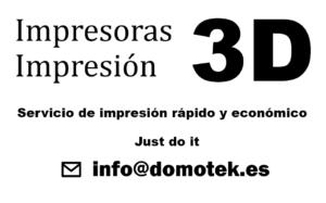 DomoTek, servicio de impresión en 3d rápido y económico