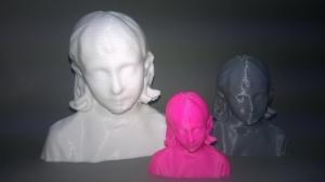 Busto escaneado de Nahiara en 3d