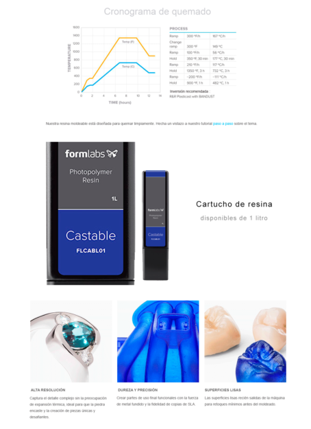 Resina Fundible Formlabs para Form2