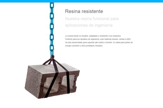 Resina Resistente Formlabs para Form2