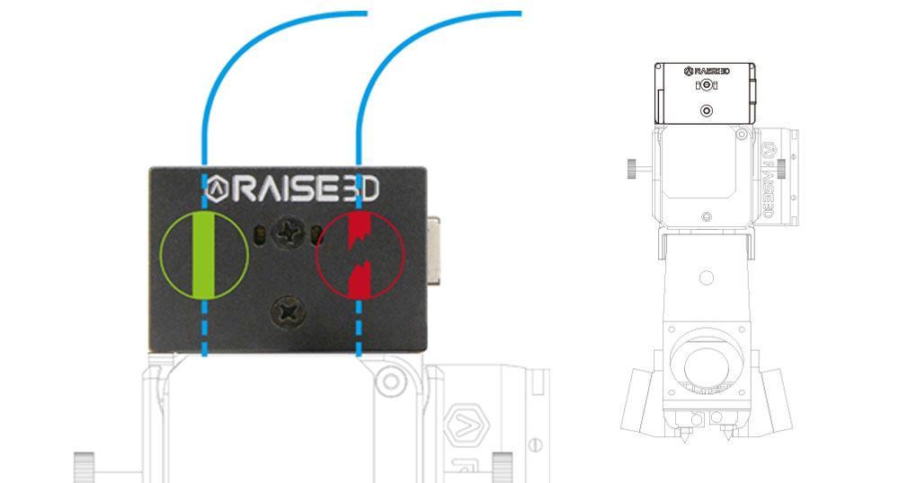 Raise3d nuevo detector de filamento
